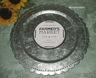 Farmer s Market Galvanized Charger Plates 13