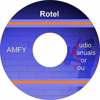 Rotel audio servicemanuals, ownersmanuals and schematics on 1 dvd
