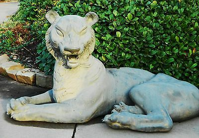"Antique Chinese Life Size 48"" Huge Bronze Statue Garden Hollywood Regency Cool"