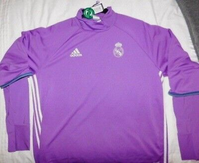 aaf0ad43d5c Real Madrid 2016 17 Adidas Long Sleeve Training Top - Purple (Size XXL)