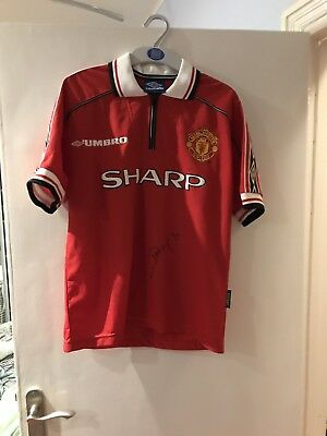 980faf24c DWIGHT YORKE HAND Signed Manchester United 1998-2000 Shirt. - £40.00 ...
