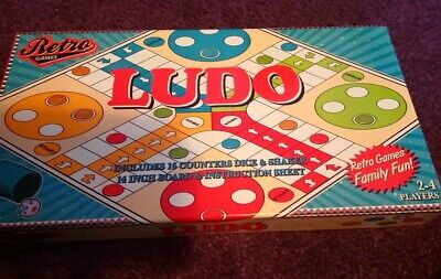 Classic Retro Games - Ludo Board Game For 2-4 Players Brand New