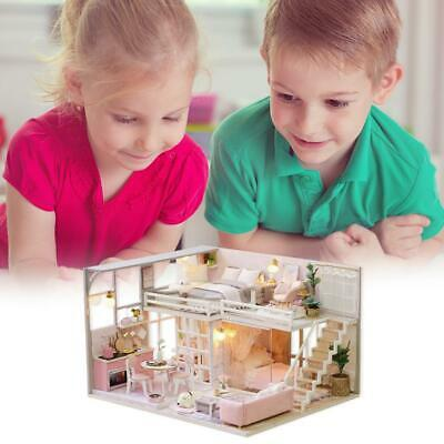 Handmade Wooden Doll House Miniature DIY Dollhouse Toy Model with Furniture Toys