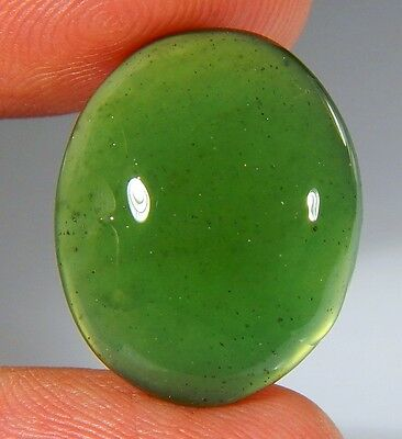 15 Ct Natural Ring Size Deep Green Serpentine  Jade Oval  Cabochon  Gemstone A83