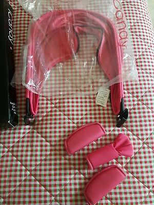 icandy Raspberry Canopy Flavour Pack Hood & Pads Colour Fuchsia  Brand New
