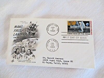First Man on moon 1969 First Day issue & 4- 10 Cent Stamp blocks