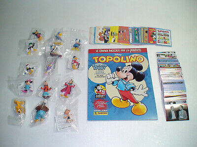 SET COMPLETO PANINI TOPOLINO STICKER STORY MICKEY MOUSE 276 FIGURINE 36 CARD ITA