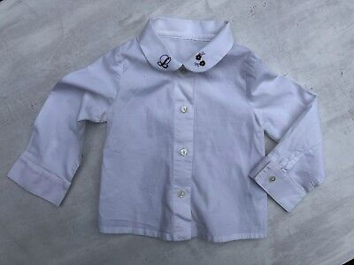 LAPIN HOUSE 18 Months 86 cm GIRLS White LONG SLEEVED SHIRT TOP 1.5-2 YEARS
