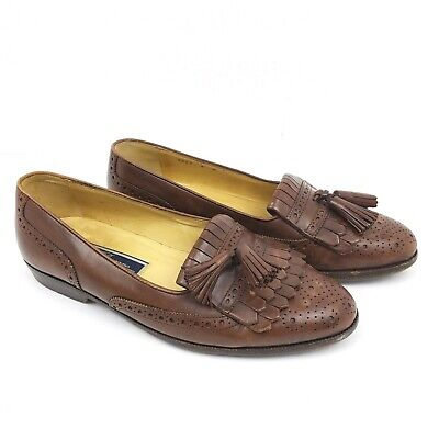 b16e4eae06 Bragano Cole Haan Brown Leather Tassel Made In Italy Loafers Shoes Mens  Size 9 M