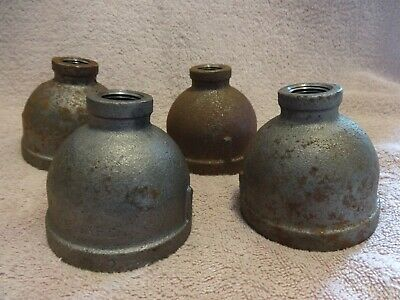 """Ward 2"""" X 1/2 """" Reducer  Straight Reducer Npt Malleable Iron Pipe Lot  Of 4 New"""