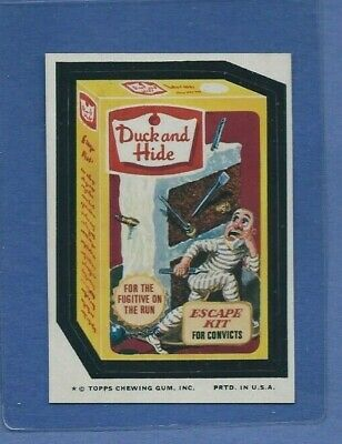 Wacky Packages 1975 Series 12 Duck And Hide Nmmt