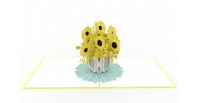 Sunflower high quality popup greeting card **Best price in Australia**