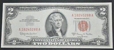 ✯ 1963 Two Dollar Note Red Seal ✯$2 Bill ✯US CURRENCY✯UNCIRCULATED✯