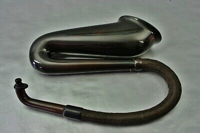Antique J. Leiter Wien Pipe - shaped Ear Trumpet Hearing Aid, Signed