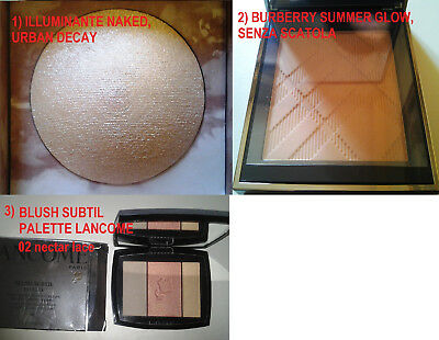 Lotto Illuminanti e blush, illuminating powder: Burberry e altri