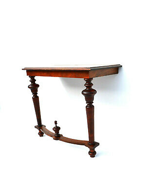 Antique  Victorian  Small Console Table Walnut 19th century