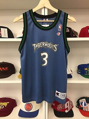 318913da9 Vintage Minnesota Timberwolves Stephon Marbury Jersey Sz L 14-16 Youth  Champion
