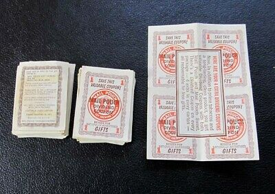 Lot Of Mail Pouch Dividend Coupons ~ Dated 1971 ~ Could Be Redeemed For Gifts