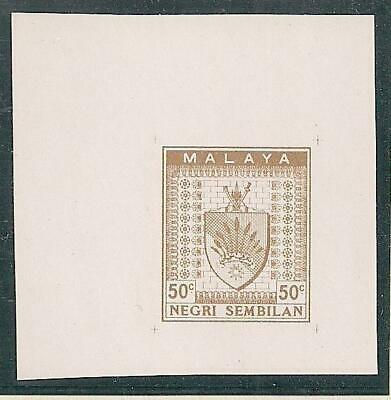 MALAYA Negri Sembilan 6 proof stamps 50 C in diff. colour, all mint no gum, 1935