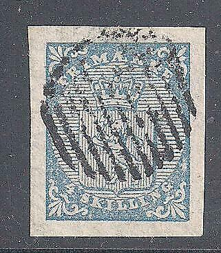 Norway 1855 stamp 4 Sk, 4 large margins, fine used