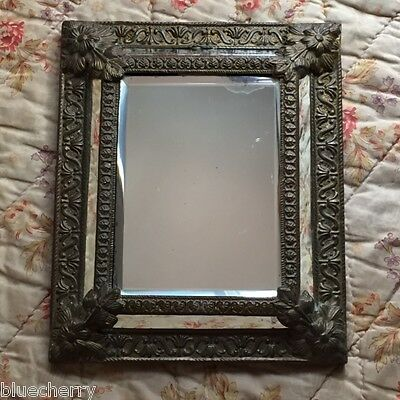 Magnificent FRENCH CHATEAU CHIC RENAISSANCE MIRROR Beveled GLASS EMBOSSED DECOR