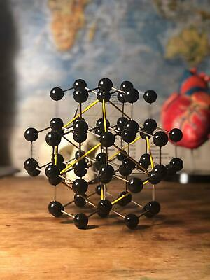 Vintage school educational molecular model DIAMOND scientific atomic molecule