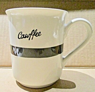 d819451dff0 Brooklynese CAWFEE Tawk Coffee Mug Fishs Eddy New York~Kristina Sacci~Used?~