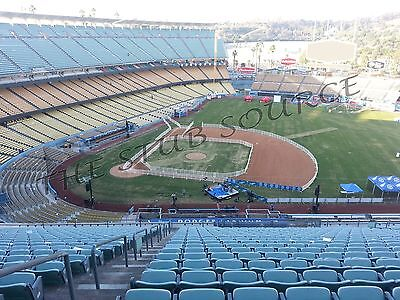2 PIT Pirates vs Los Angeles Dodgers 4/26 Tickets FRONT ROW 14RS Dodger Stadium