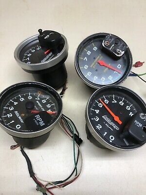 Lot Of 4 Autometer Tachometers Sport Comp Monster Memory Auto Gage Meter Tach