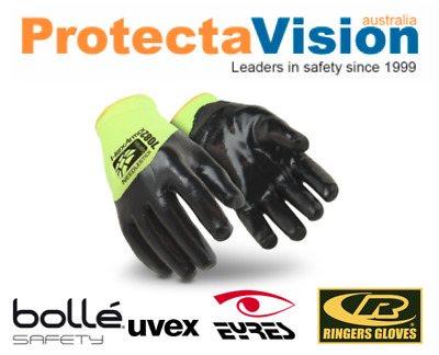 HexArmor NEEDLE STICK RESISTANT SAFETY GLOVES Hi Visibility YELLOW Size S - XL