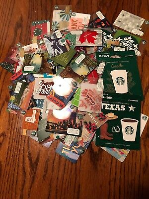 120+ Starbucks Gift Cards Lot Holiday, City , State