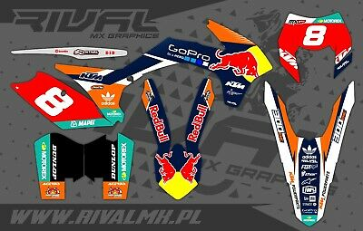 KTM EXC EXC-F XC-W 2014 2015 2016 Graphics Decals Stickers Dekor Rival Designs