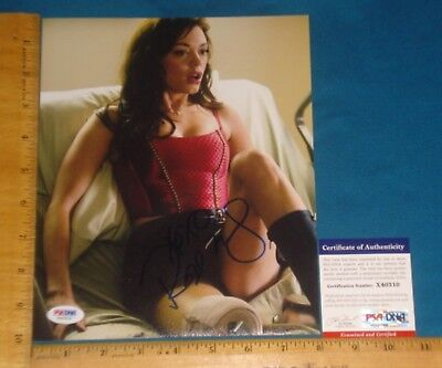 PSA DNA Certified Authentic Rose McGowan signed/autographed 8x10 Color Photo