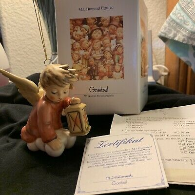 MJ HUMMEL GOEBEL XMAS 1991 Angel With Certificate