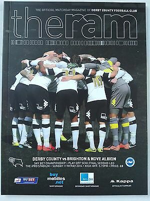 Derby County v Brighton & Hove Albion 11th May 2014 Play off Semi Final 2nd Leg