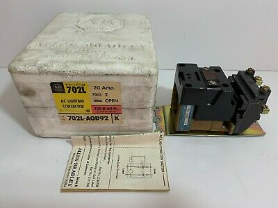 New! Allen-Bradley Ac Lighting Contactor 702L-Aod92 Coil: 110/120 Volt 50/60 Hz