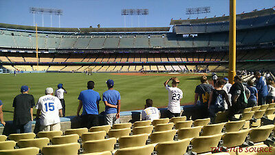 2 Francisco Giants Los Angeles Dodgers Tickets 4/1 3rd ROW FIELD Dodger Stadium