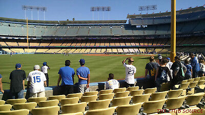 2 Francisco Giants Los Angeles Dodgers Tickets 4/2 3rd ROW FIELD Dodger Stadium