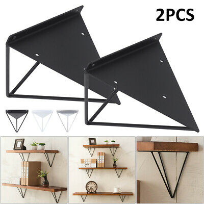 2X Shelf Brackets Metal Hairpin Prism Floating Wall Mount Support Leg