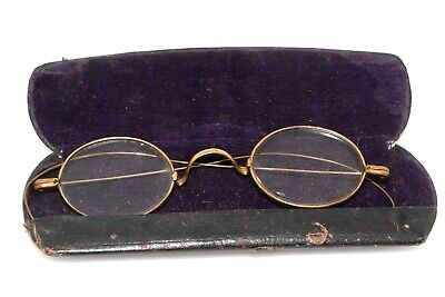 Antique Gold Filled Wire Rim Oval Spectacles Eyeglasses