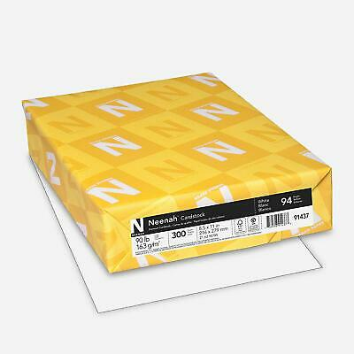 "Neenah Cardstock, 8.5""x11"" Heavy-Weight White, 94 Brightness, 300 Sheets (91437)"