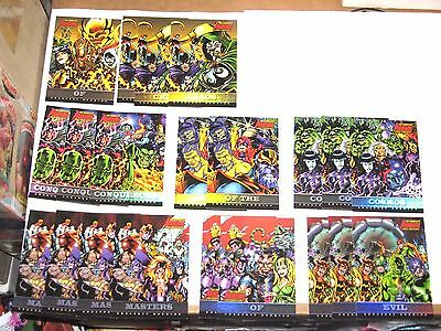 2006 Complete Avengers GREATEST ENEMIES FOIL INSERT 21 CARD LOT! GE9 VILLAINS!