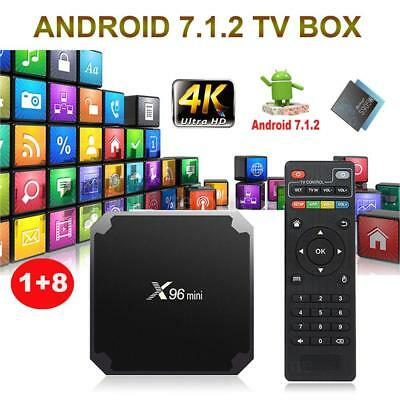 X96 mini Smart Android 7.1.2 TV Box Amlogic S905W Quad Core Mini PC 1GB 8G Media