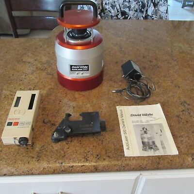 DAVID WHITE Auto Laser AEL-500 Level with LD-16 Detector and Hard Case