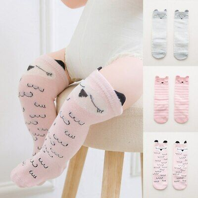 newborn baby socks cartoon knee high boys girls socks anti-slip child leg warmer