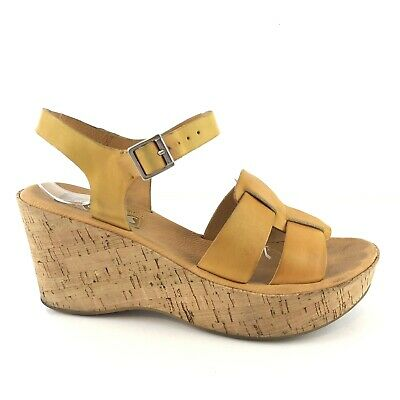 3a8399832229 Korks Kork Ease Brie Wedge Womens Shoe Size 7 38 Yellow Leather Sandals  Wedges