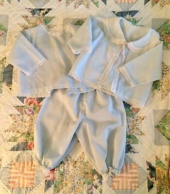 Vintage baby boy suit, christening, baptism, Easter, baby shower, 3 piece, 0 - 3