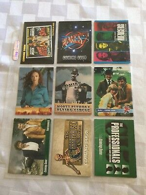 Lot of 9 Promotional Trading Cards Blake's 7 Avengers Monty Python Professionals