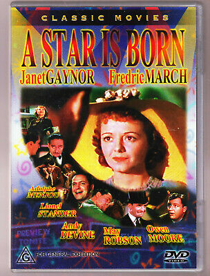 A Star Is Born (1937) Janet Gaynor, Fredric March DVD R4 RARE COVER
