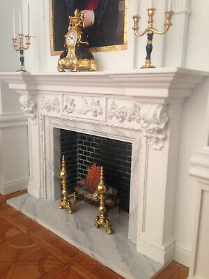 Georgin fireplace mantel 1/12 scale by CMD unpainted resin.GONE WITH THE WIND